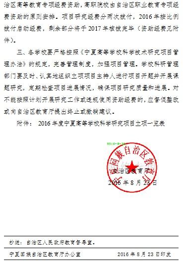 20170228142845174 - 宁夏高等学校关于公布2016年度科学研究项目的通知