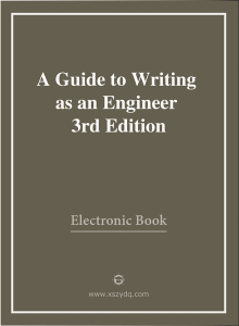 A  Guide  to Writing as an Engineer 3rd Edition 2009