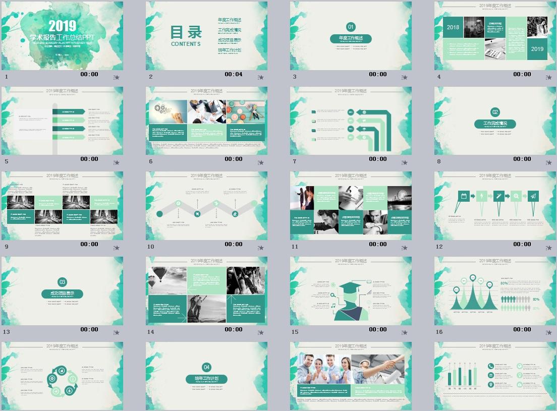 科研学术PPT模板(1)