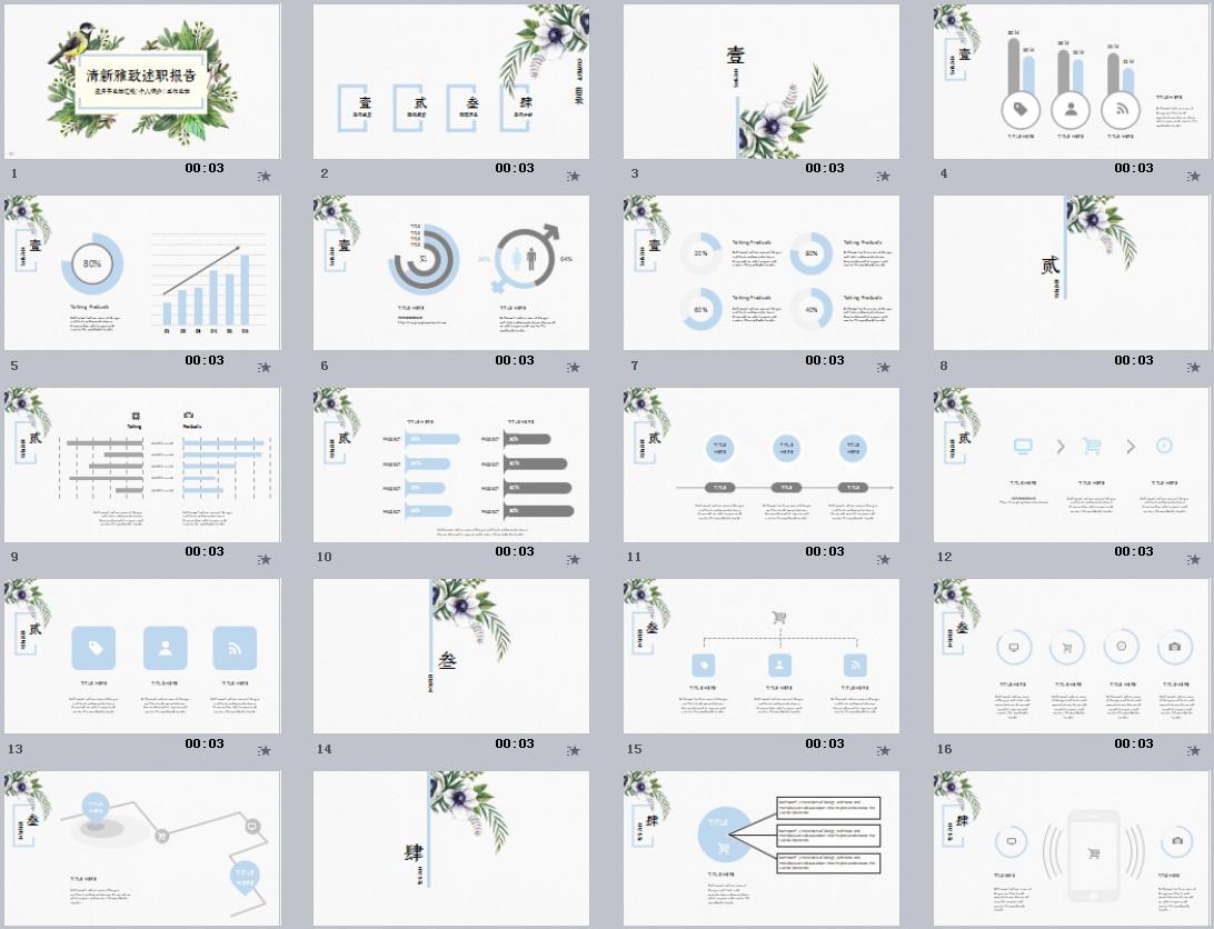 科研学术PPT模板(9)